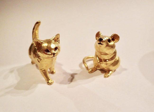 十二支モチーフの純金製動物オブジェ