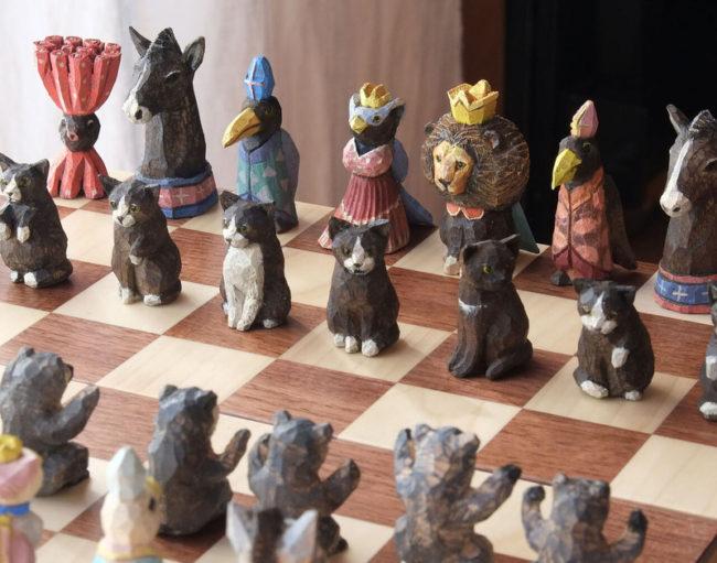はしもとみお/  世界にひとつの木彫り展